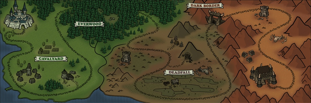 Map for mobile game 3 Armies
